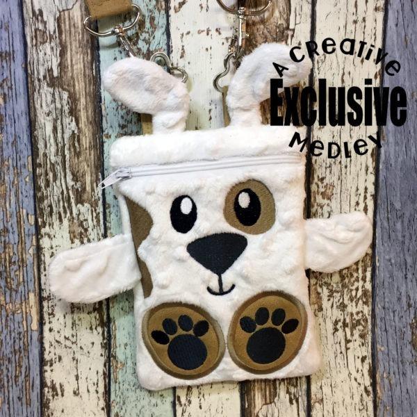 Puppy Critter Zipper Bag In the Hoop – for 5×7 hoops