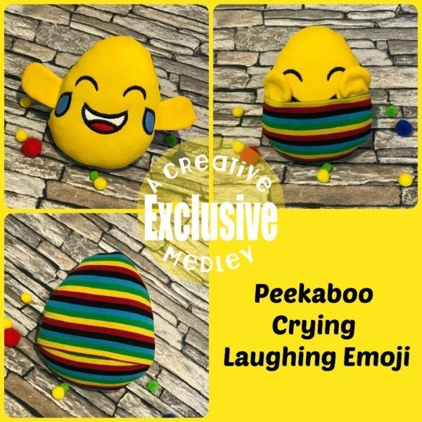 Peekaboo Crying Laughing Emoji